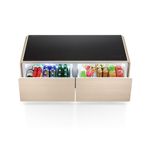Mordern Coffee Table with Fridge and Music Player for Living Room