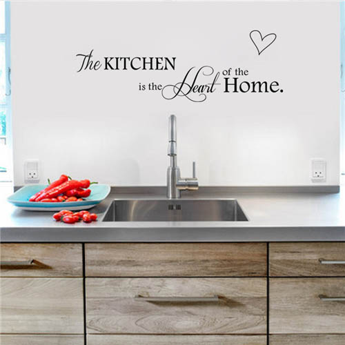 Waterproof and Removable Vinyl Kitchen Wall Art Backsplash Decals