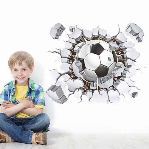 Cool Football Wall Stickers for Boys Room or Bedroom