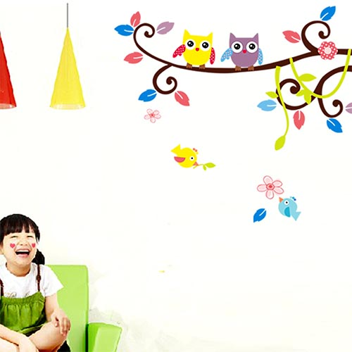 Nursery Children's Wall Murals of Bird Theme